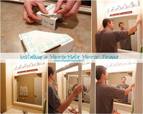 how to install a bathroom mirror installing bathroom mirror frames
