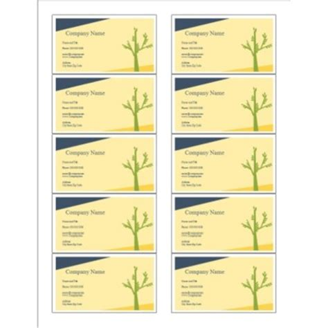 avery business card templates 10 per sheet