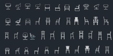 Chairs Elevation     Free CAD Blocks And CAD Drawing