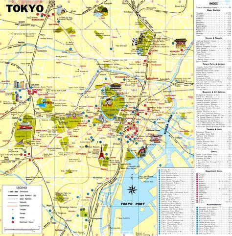 sightseeing map tokyo sightseeing map tokyo sights map kantō japan