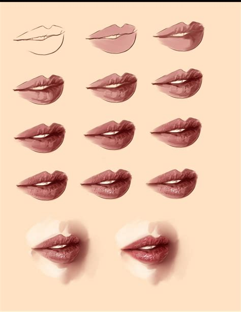watercolor lips tutorial realistic lips tutorial by ryky on deviantart
