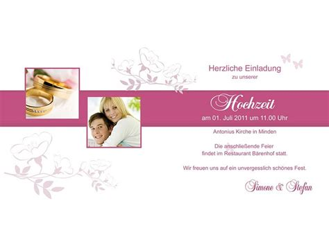 Einladung Hochzeit Pink by Hochzeitskarte Hochzeitseinladung Einladung Hochzeit