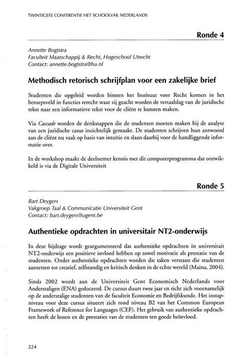 Een Zakelijke Brief Schrijven Nederlands Pdf doorzoek alle bundels taalunieversum