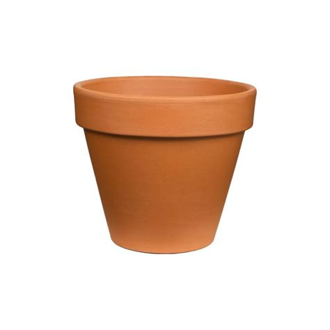 terracotta pots pennington 12 in terra cotta clay pot 100043019 the home depot