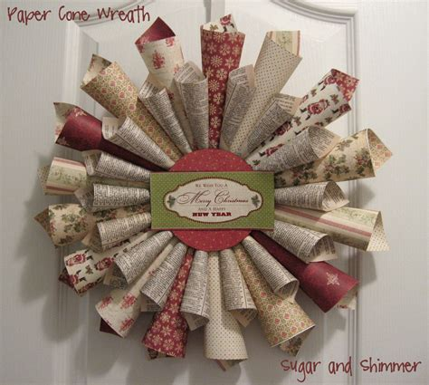 A Paper Wreath - sugar and shimmer paper cone wreath