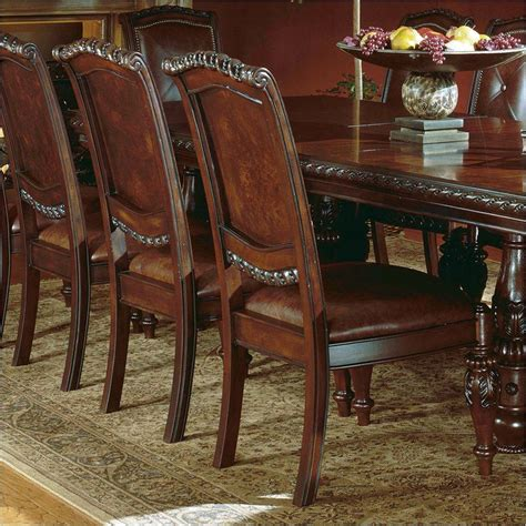 antoinette dining room set antoinette cherry double pedestal dining set