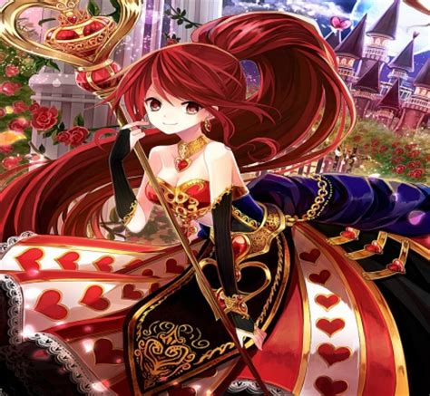 anime queen wallpaper queen of hearts anime girls wallpapers and images