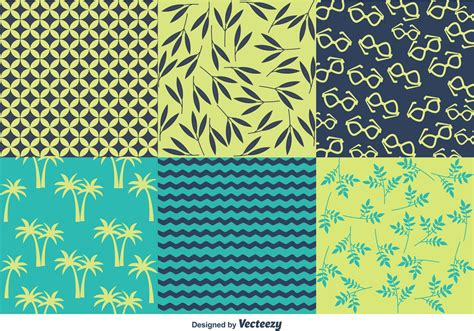 vector pattern summer spring and summer beach pattern vectors download free