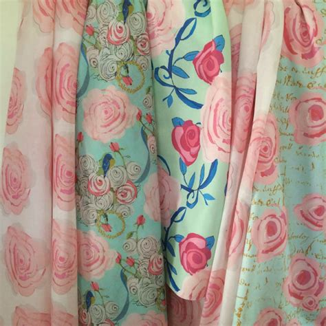 watercolor shabby chic fabric designs from frenchscript on