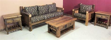 rustic living room furniture barn wood furniture