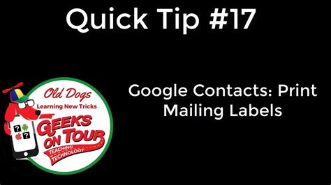 Printing Address Labels From Google Contacts | printing mailing labels from google contacts using avery
