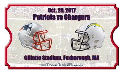 patriots chargers new patriots vs los angeles chargers football