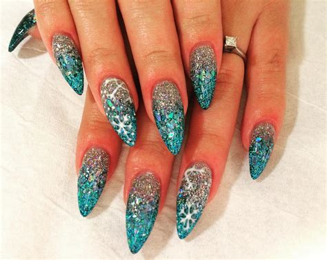 glitter acrylic nail art designs ideas design