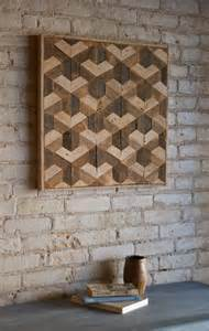 Wooden Wall Hanging Reclaimed Wood Wall Art Decor Lath From