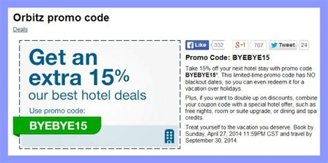 travel promotion codes travel steal extra 15 off orbitz promo code travel it girl