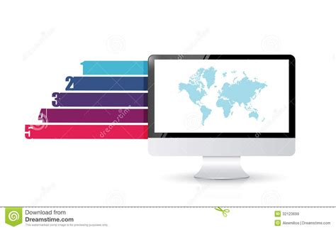 design banner computer computer design business graph banners template royalty