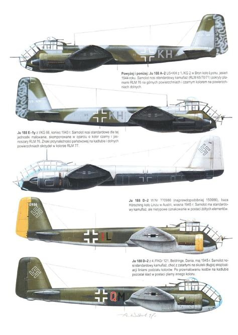 libro the luftwaffe in colour various ju 188 twin engine special purpose aircraft 1 2ww aircraft ships