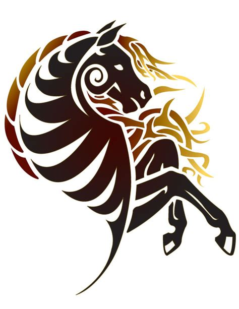 tribal horse final by coyotehills on deviantart