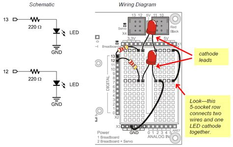 led test circuit learn parallax