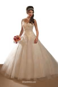 destination v neck tulle ball gown wedding dress