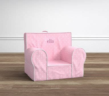 Anywhere Chair Cover by Light Pink Pin Dot Anywhere Chair 174 Pottery Barn