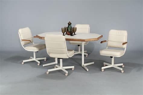 kitchen table chairs with casters caster sets product categories albuquerque dinettes