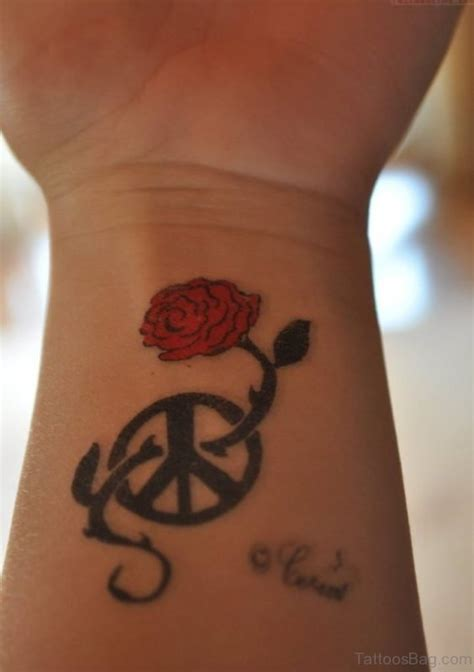 rest in peace tattoos on wrist 73 excellent peace tattoos for wrist