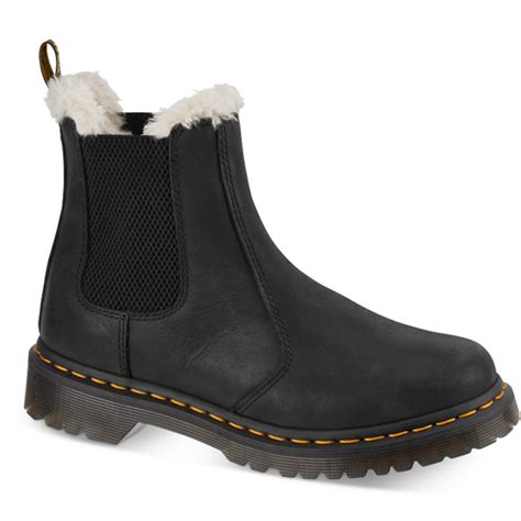 dr martens womens leonore black chelsea boot 21045001