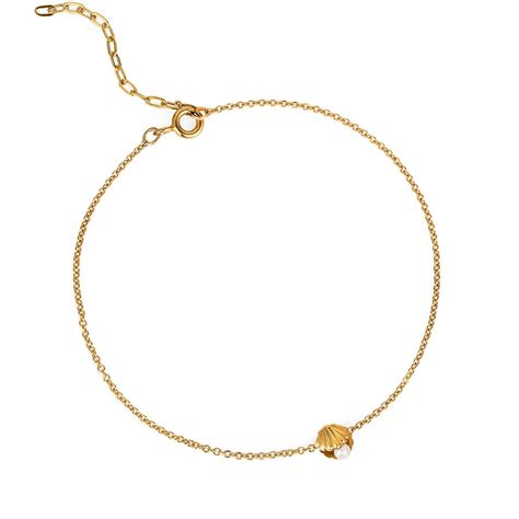 Shell Pearl Bracelet mini shell and pearl bracelet by renee