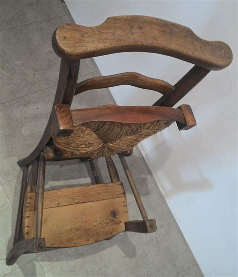 chaise paillee former pray god devotion chair straw religious armchair system napoleon wood xix ebay