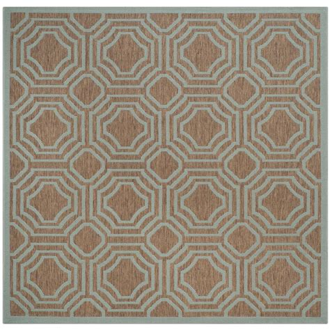 safavieh cy6126 39 courtyard indoor outdoor area rug gold lowe s canada safavieh courtyard brown aqua 5 ft x 5 ft indoor outdoor square area rug cy6112 337 5sq the