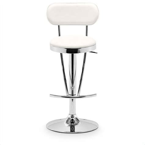 bar stools with back support 35 stylish modern adjustable white leather bar stools