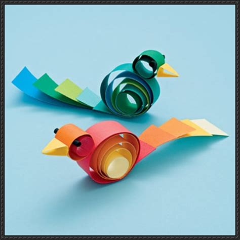 How To Make A Bird Out Of Construction Paper - how to make a curly bird paper craft