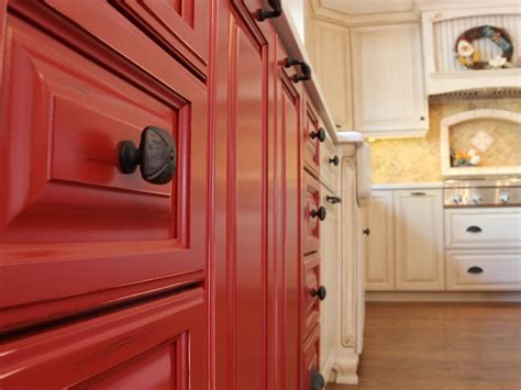 red kitchen cabinet photo page hgtv