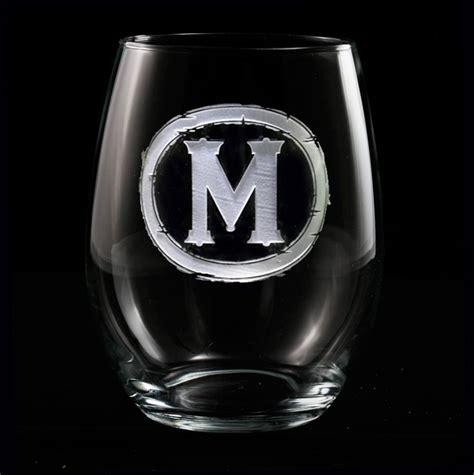 monogrammed barware glasses 147 best personalized barware bar glasses images on pinterest
