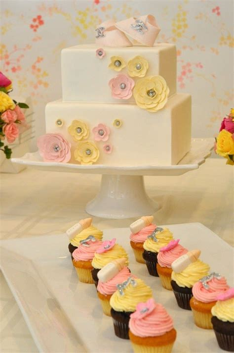 Pink And Yellow Baby Shower Cake by Vintage Baby Shower In Pink And Yellow
