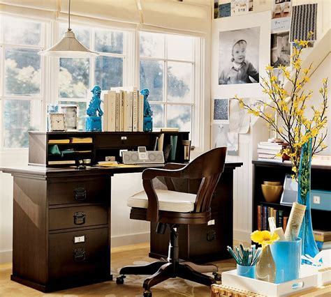 how to use bright colors to decorate the home interior cozy workspaces home offices with a rustic touch