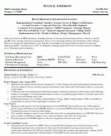 project management resume template business management resume exles resume format