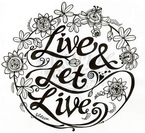 live and let live tattoo live let live on behance