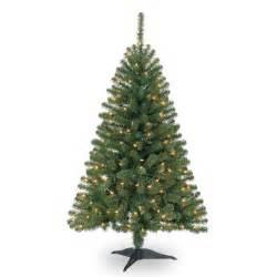4 ft pre lit hillside pine artificial christmas tree