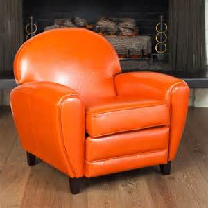 Burnt Orange Accent Chair Oversized Burnt Orange Leather Club Chair Contemporary Armchairs And Accent Chairs By