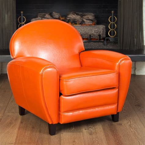 Orange Club Chair by Oversized Burnt Orange Leather Club Chair