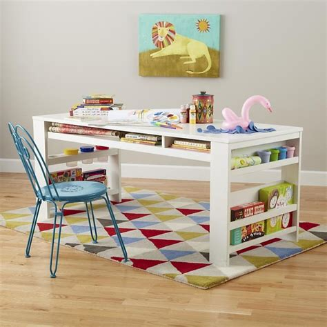 compartment department play table white modern kids