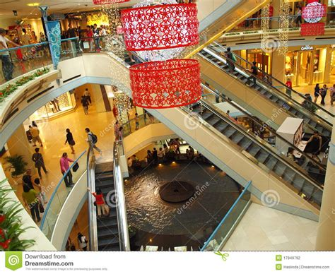 new year decorations shopping mall mall shopping for new year editorial photography