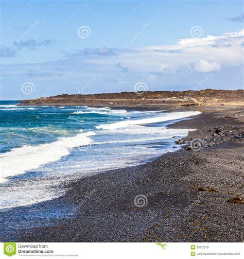 volcanic beach volcanic beach in janubio royalty free stock images