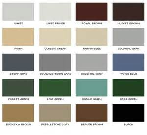how to color aluminum gutter color chart denver roofing siding gutter denver co