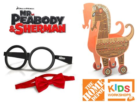 free home depot workshop mr peabody sherman