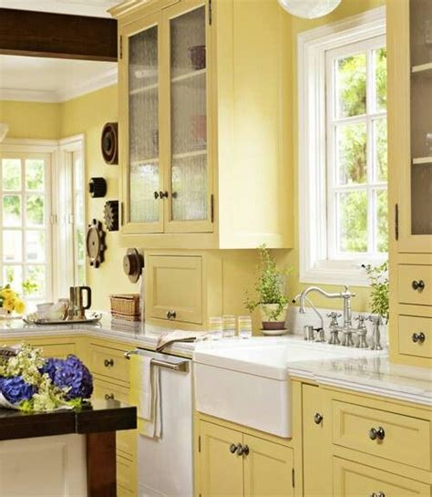 butter yellow kitchen cabinets butter kitchen home interiors