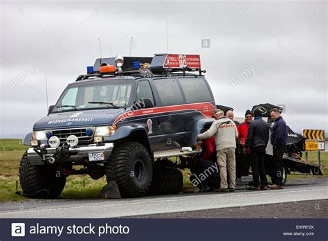 how to your search and rescue broken bj 246 rgunarsveitin search and rescue truck in iceland stock photo royalty