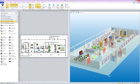 visio building shapes 3d for ms visio 2013 and 2010